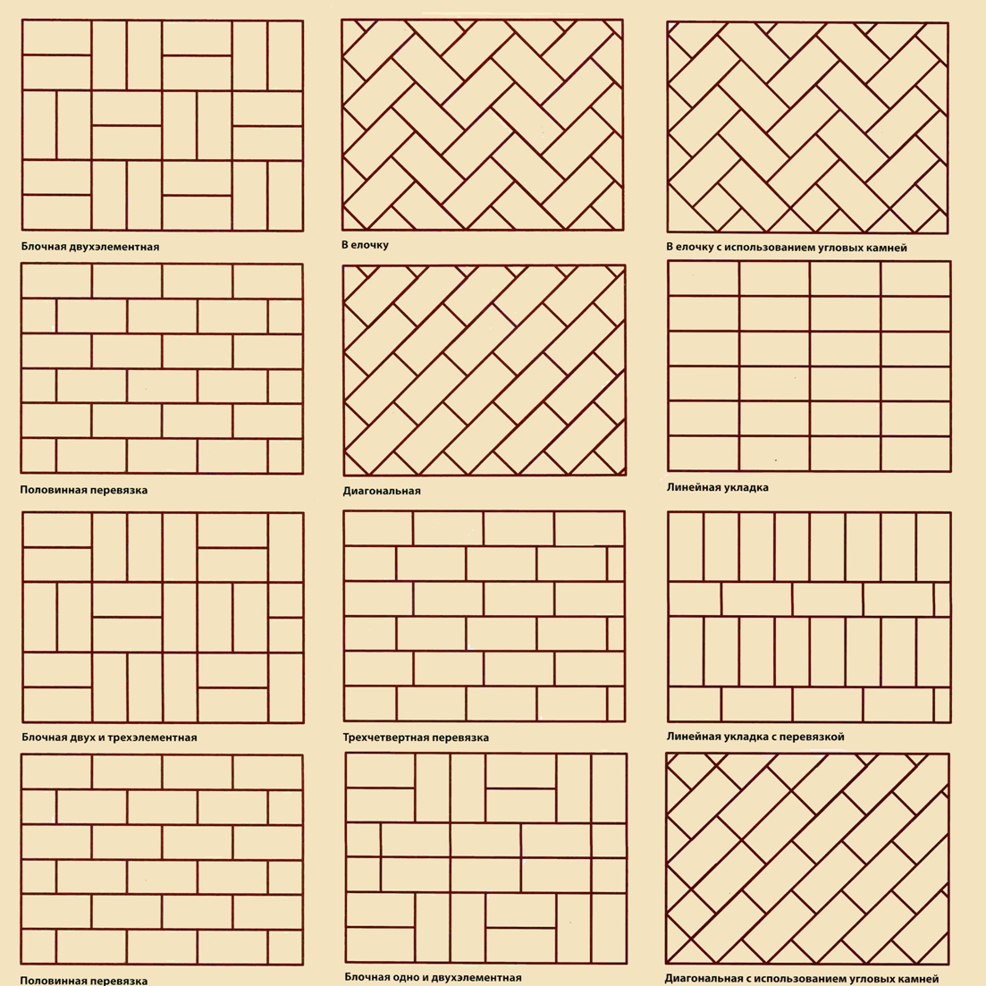 Схема укладки тротуарной плитки фото 613